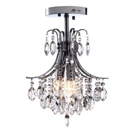 2 -Head Modern Crystal Chandelier Light for Living Room E12/E14