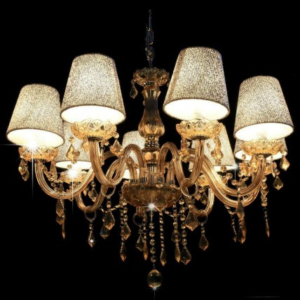 6 Light Crystal Chandelier Ceiling Lamp European Style Candle Pendant Light