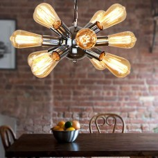 Ceiling Lamp Wrought Iron Plating Chrome Living Room Dining Room Bedroom Chrome