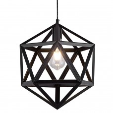 Cage Style Diamond Shape Semi Flush Ceiling Light - Bronze