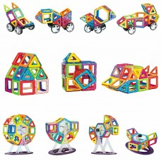 84 Pcs Magnetic Building Blocks Set for Kids or Toddlers, Brain Development Educational Construction Toys for The Age 3-Great Children Gift