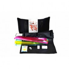 American Mahjong Set 166 Tile with 4 Color Pusher with Soft Carrying Bag, black