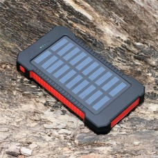 8000mAh Fast Charging Portable Solar Charger Battery Power Bank 2USB Waterproof