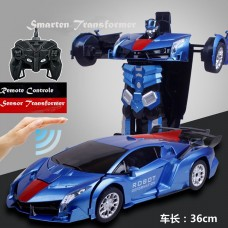 Smarten Kids Toy Transformer Sensor & Remote Control Robot Car - Blue (NEW MODEL)