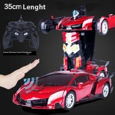 Smarten Kids Toy Transformer Sensor & Remote Control Robot Car -RED (NEW MODEL)