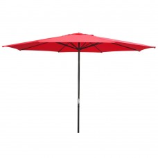 High Quality 9 Ft Market Outdoor Table Patio Umbrella with Push Button Tilt and Crank,8 Ribs, Burgundy (Red)