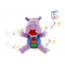 ZiusToys, Hippo Stuffed Animal, Baby and Toddler Educational Music Plush Toys for 18 Months/1 2 3 Years Old