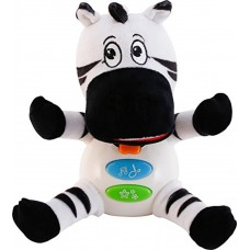 ZiusToys, Zebra Stuffed Animal, Baby and Toddler Educational Music Plush Toys for 18 Months/1 2 3 Years Old