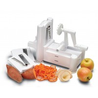 Tri-Blade Vegetable Cutter Spiral Slicer Spiralizer Spaghetti Pasta Maker