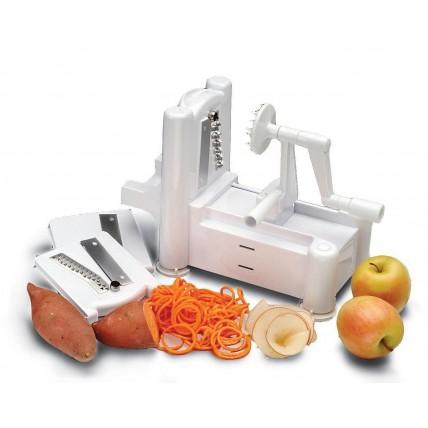 Tri-Blade Vegetable Cutter Spiral Slicer Spiralizer Spaghetti Pasta Maker